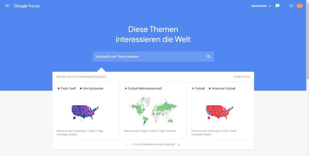 Für das richtige Goole Ranking Google Trends nutzen