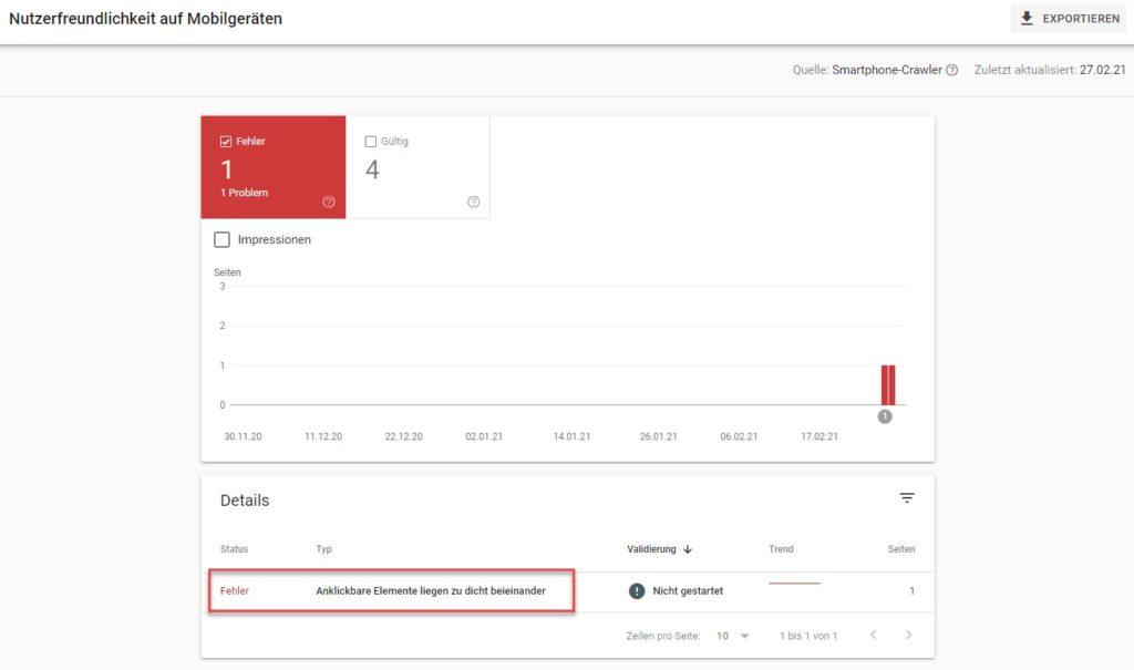 google search console nutzerfreundlichkeit auf mobilgeräten